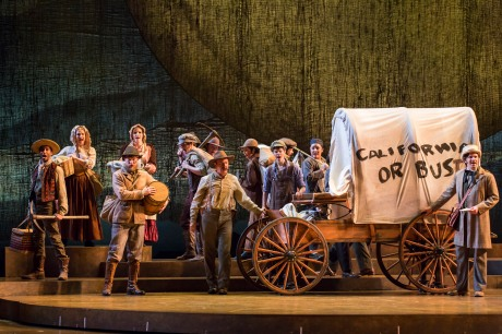 The Company of Lerner & Loewe's Paint Your Wagon at The 5th Avenue Theatre. Photo credit Tracy Martin
